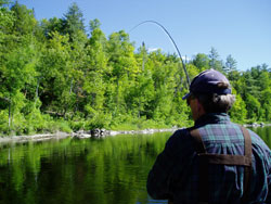 Fishing in Solon, Maine.